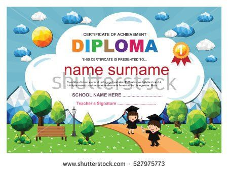 Kids Certificate Stock Images, Royalty-Free Images & Vectors ...