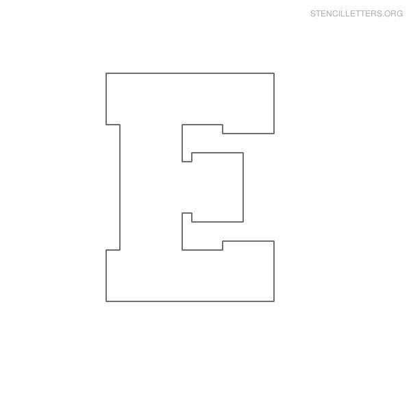 Free Printable Block Letter Stencils | Stencil Letters M Printable ...