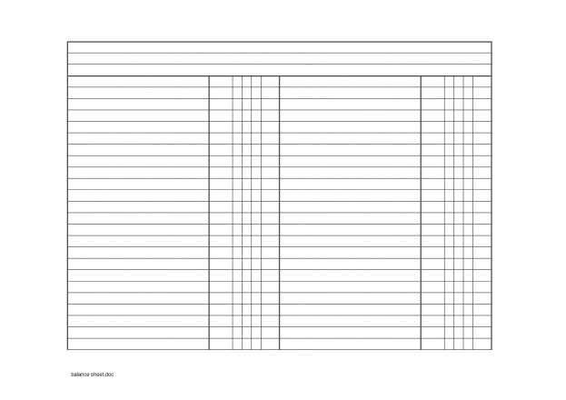 Blank Balance Sheets For Accounting Best photos of blank balance ...