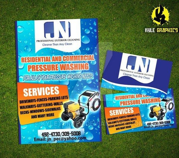 Javan pressure washing business cards and flyers by KyleTurner on ...