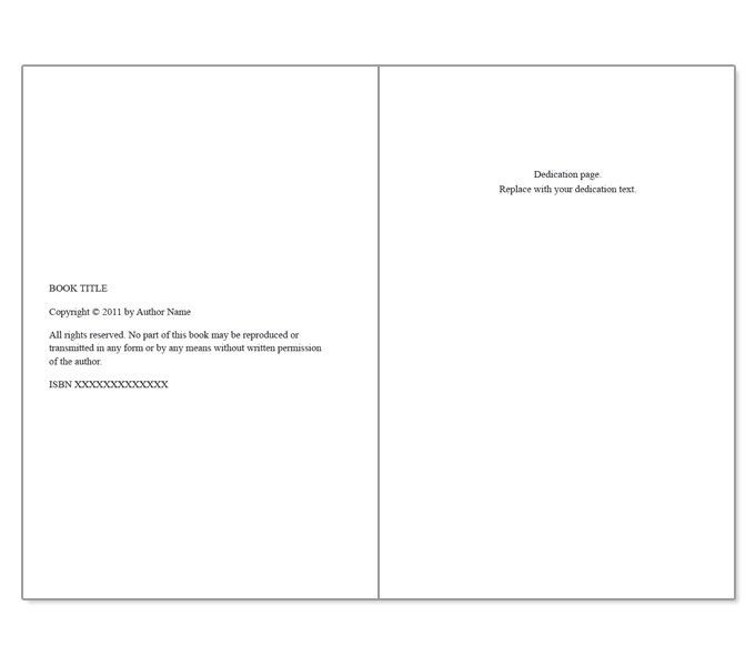 booklet templates word - Template