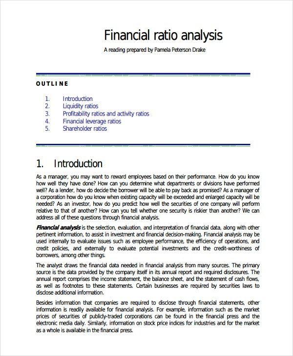 33+ Financial Analysis Samples | Free & Premium Templates