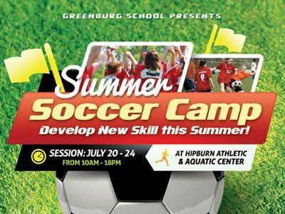 Soccer Camp Flyer Templates by Kinzi Wij - Dribbble