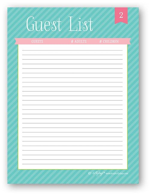 Party + Event Planning: The Guest List