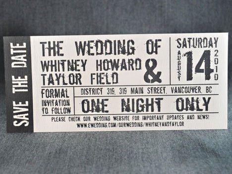 Ticket Wedding Invitations - plumegiant.Com