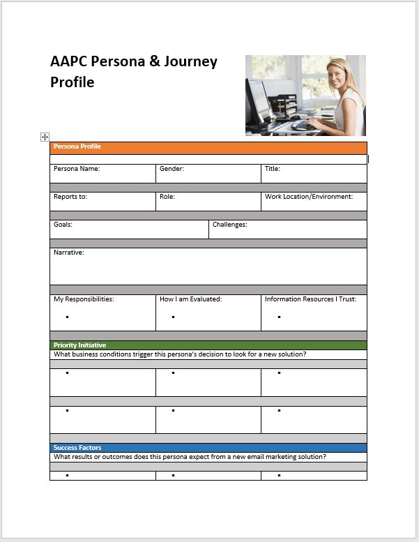 Customer Profile Templates. premium templates tagged marketing ...
