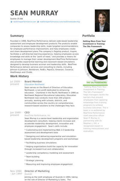 Board Member Resume samples - VisualCV resume samples database