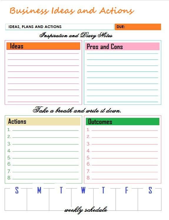 Free Business Printables - Thoughts of Business
