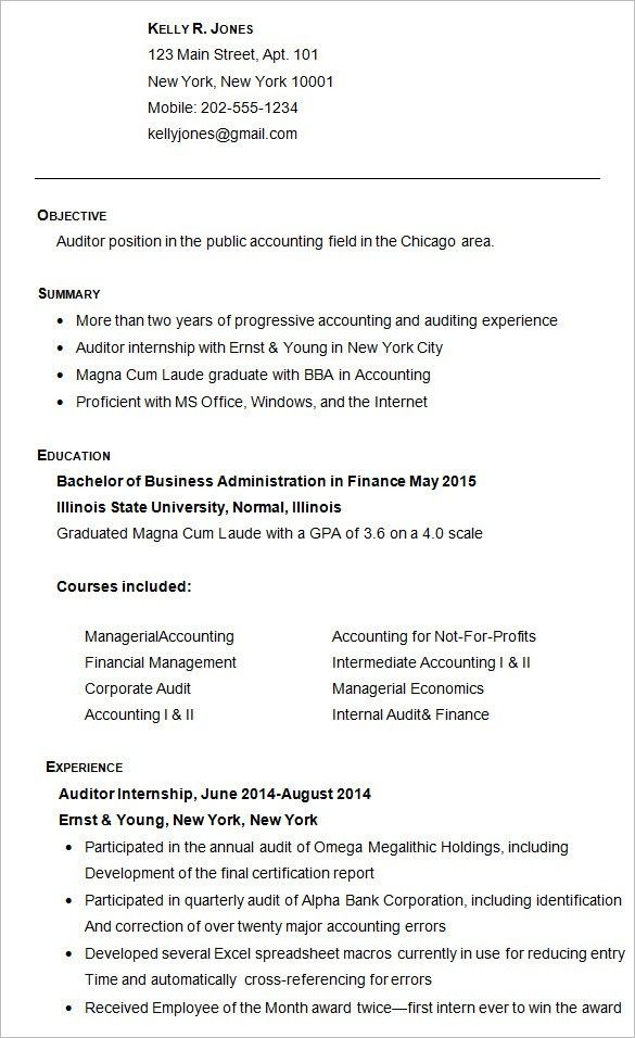 Shining Inspiration College Resume Sample 13 Good Examples For ...