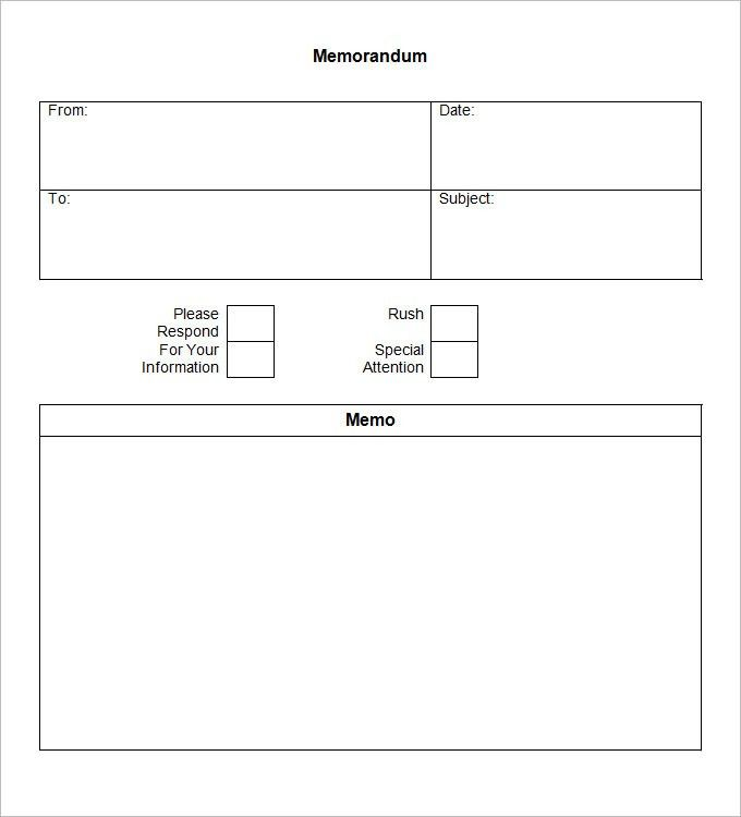 Blank Memo Template - 14 Free Word, PDF Documents Download | Free ...