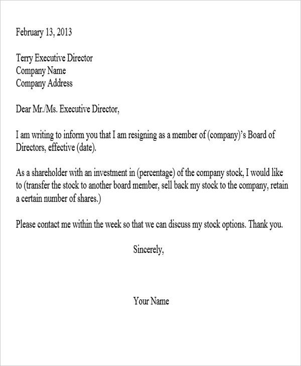 Sample Corporate Resignation Letters - 8+ Free Sample, Example ...