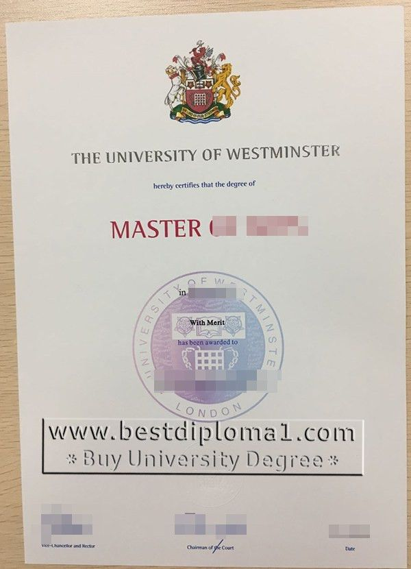 Westminster fake diploma, Westminster degree template, buy a ...