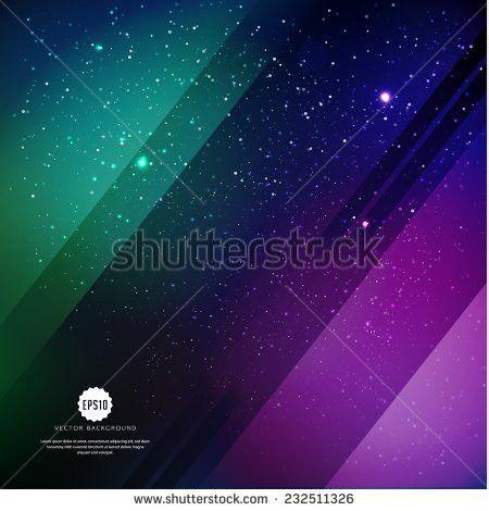 Vector Universe Background Presentation Design Brochure Stock ...