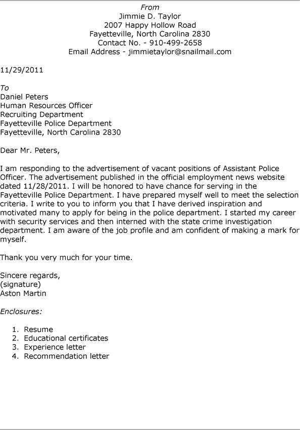 police officer resume cover letter best police officer cover