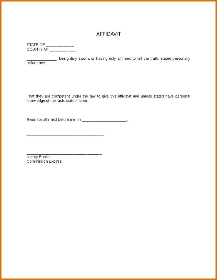 6+ affidavit templateReference Letters Words | Reference Letters Words