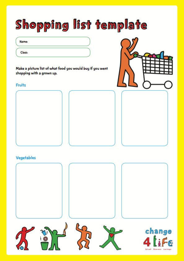 PHE School Zone   Our Healthy Year: Reception Classroom Activity .  Classroom List Template