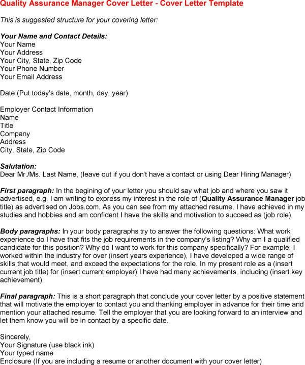 Quality Assurance Specialist Cover Letter Examples Media in ...