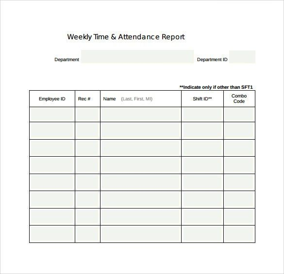 Employee Weekly Report Weekly Report Template 10 Free Word Excel – How to Write a Weekly Report Template