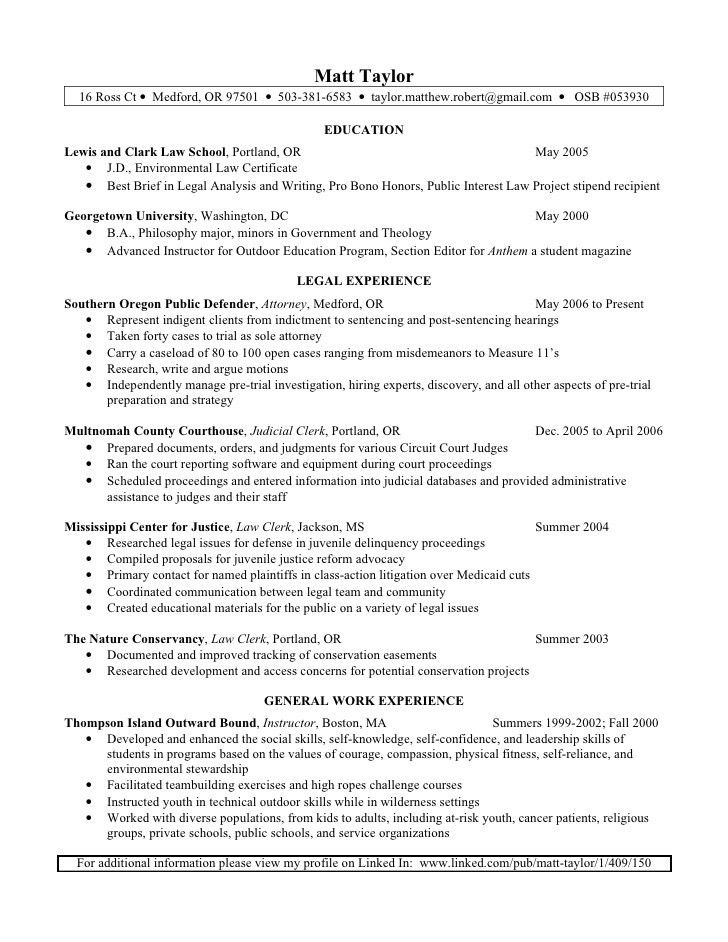 matt taylor resume - Corporate And Contract Law Clerk Resume