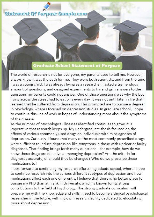 Get Graduate School Statement of Purpose Sample | Statement of ...