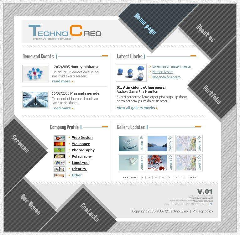 Website Template #8494 Web Design Studio Custom Website Template ...
