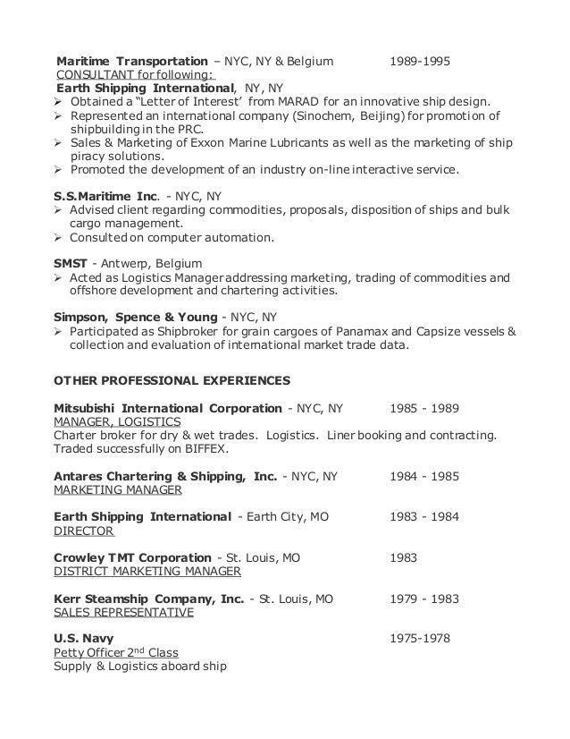 Merchant Marine Engineer Sample Resume 20 Cover Letter Software ...