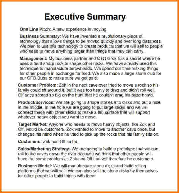 10 executive summary template doc | Financial Statement Form
