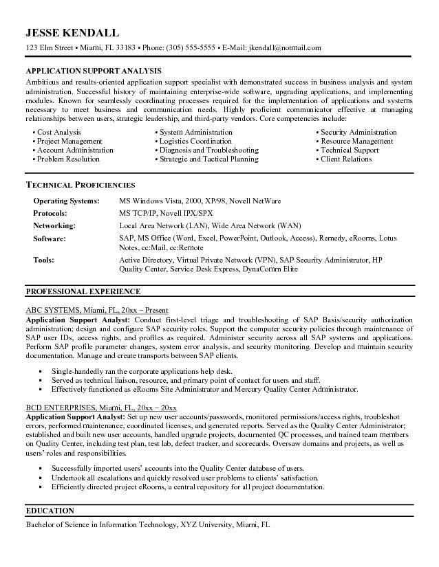 19+ [ Application Support Analyst Resume Sample ] | Social Worker ...