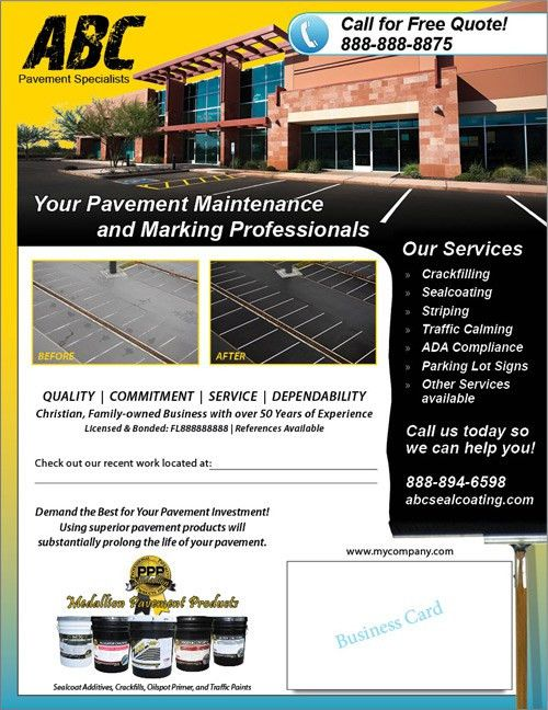 Professional Pavement Products Make a Custom Contractor Flyer