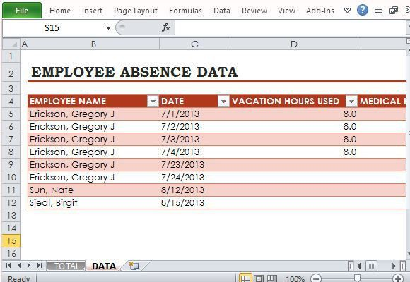 Monthly Employee Attendance Sheet Excel Format – Employee Template ...