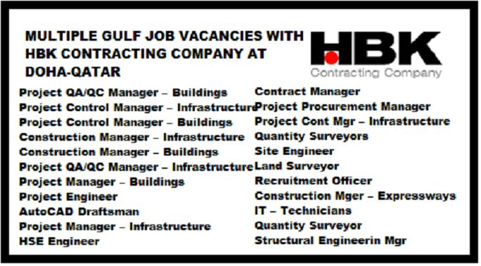 Latest Jobs at HBK Contracting Company – Qatar 2017 - zinjobs