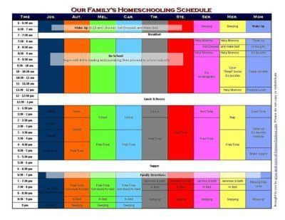 5 Free Printable Homeschool Schedules and Printable Homeschool ...