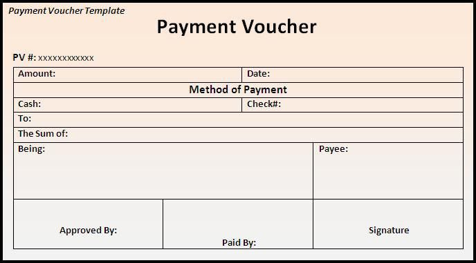 Payment Voucher Template PDF | Blank Certificates