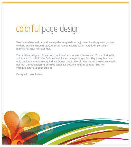 Colorful Page Design Free Vector   123Freevectors
