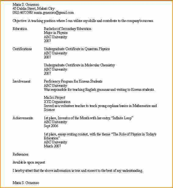 High School Resume Examples No Experience. Acting Resume Template ...