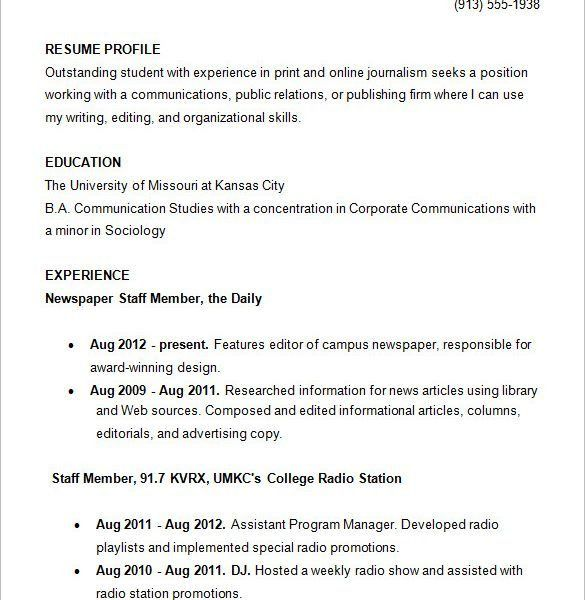 Entracing College Resume Examples Classy - Resume CV Cover Letter