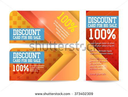 Gift Voucher Template Colorful Pattern Stock Vector 344633441 ...