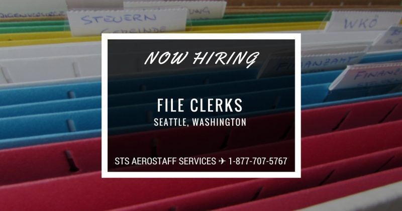STS is Now Offering File Clerk Jobs in Seattle, Washington