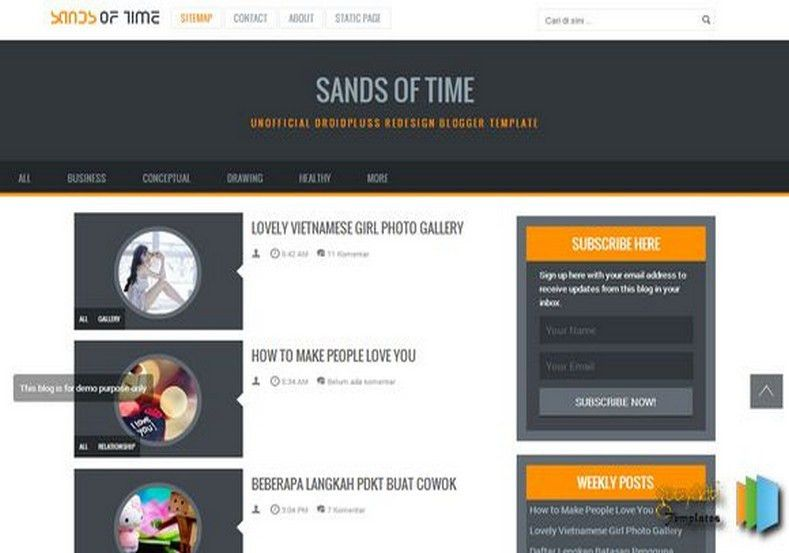 Sands of Time Responsive Blogger Template 2014 Free Blogger Templates