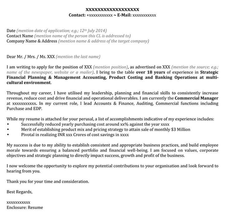 Cover Letter For Banking | Covering Letter Format - Naukri.com