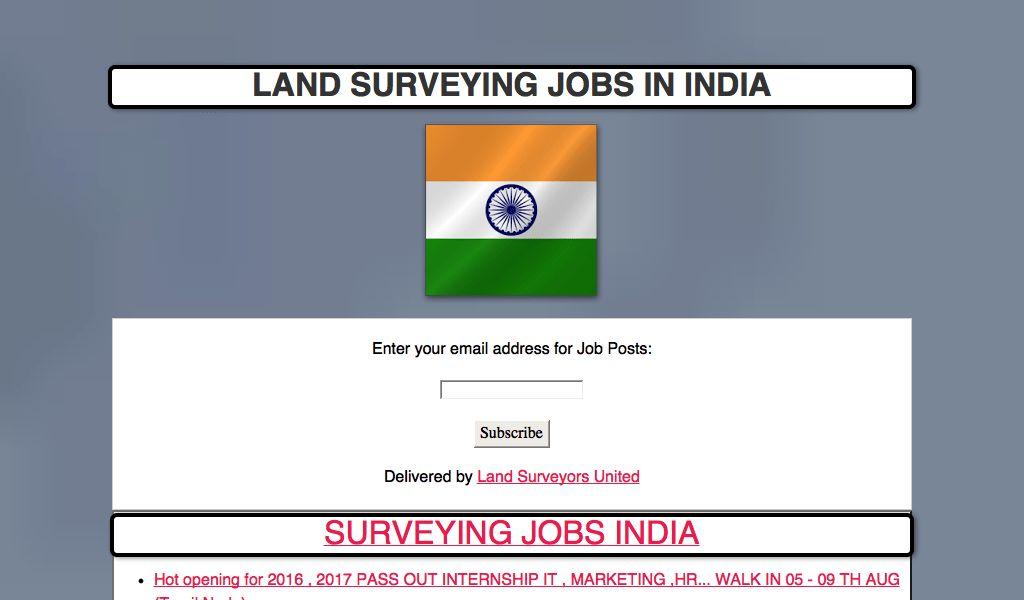 Land Surveying Jobs India