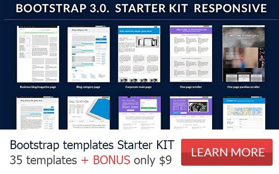 Bootstrap 3 templates, themes, examples, free premium bootstrap ...