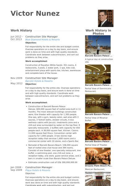 Fancy Design Resume Site 10 Site Manager Resume Samples - Resume ...