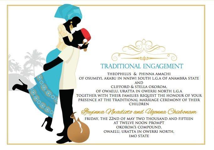 Nigerian Wedding Invitation Card Template ~ Yaseen for .