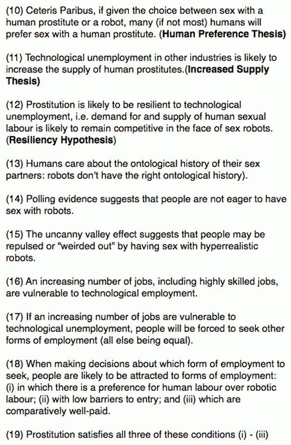 Will sex workers be replaced by robots? (A Precis)