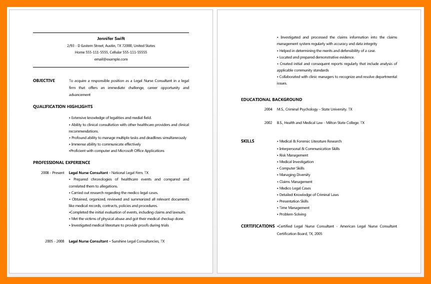 resume. certified legal nurse consultant cover letter sample ...