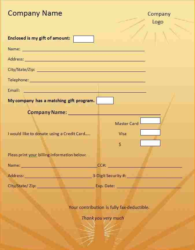 5+ donation form template | academic resume template