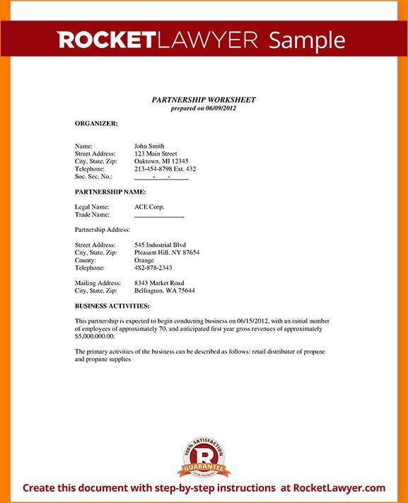 6+ partnership agreement sample | Outline Templates