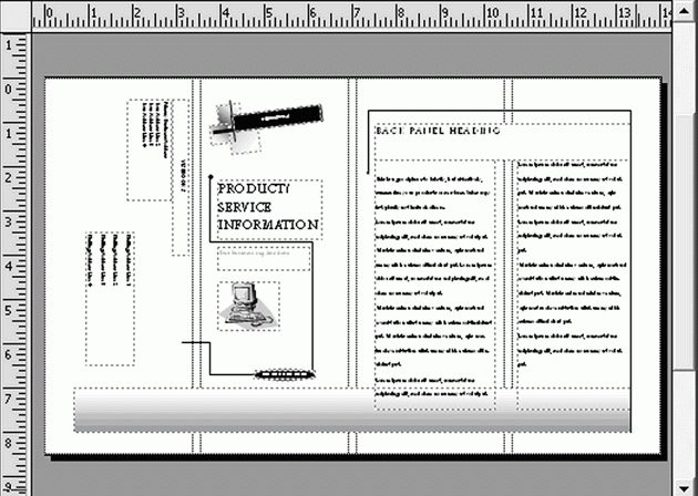 Publisher 2003 In Pictures: Create a brochure from a template