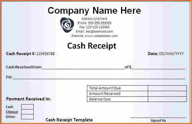 7+ make a receipt - Budget Template Letter